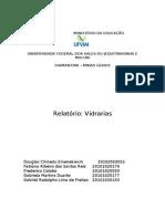 relatório de bioquímica - vidrarias