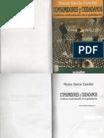 Nestor Garcia Canclini - ores y Ciudadanos