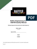 Buffco Eng AS9100 Quality Manual 2-28-06