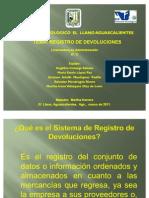 Presentación registro de devoluciones