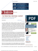 The Predictably Irrational Claimant - Claims Magazine
