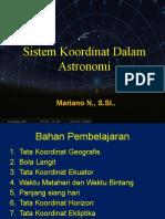 Sistem Koordinat Benda Langit - Pelatihan April 2011