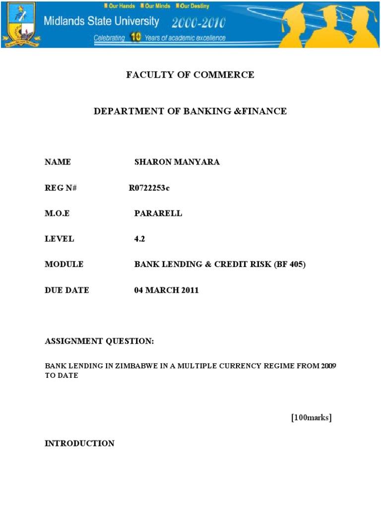 Dissertation services zimbabwe