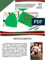 PROGRAMA ESTATAL DE ACTIVACIÓN FÍSICA ESCOLAR