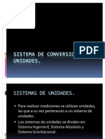 Sistema de Conversion de Unidades