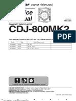pioneer CDJ-800mk2 service manual
