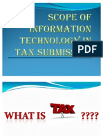 Scope of IT in TAX Submission