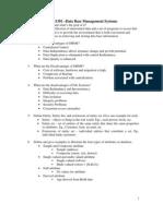 CS1301 -Data Base Management Systems