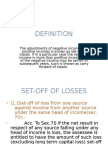 Set-Off and Carry Forward Losses-1