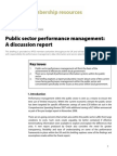 09-25 Public Sector Performance Management a Discussion Report