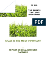 Of all The Things That Live and Grow, Grass is the Most Important