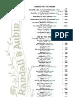 London Restaurant Wine List