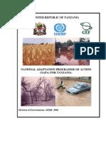 Tanzania NAPA April 2006[1]
