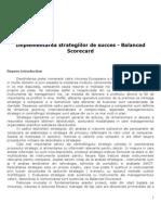 Implement Area Strategiilor de Succes - Balanced Scorecard