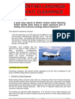 Preventing Landings Without Clearance