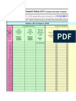 NPV Solution Template