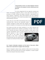 Easycar Case Study Report