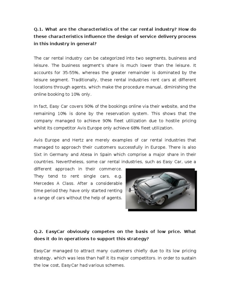 Easycar Case Study Report Car Rental Euro - Show low car rental