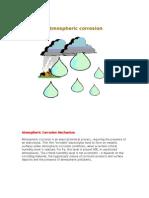Atmospheric Corrosion Mechanism