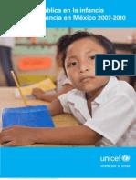 Inversión pública en la infancia y la adolescencia en México 2007-2010
