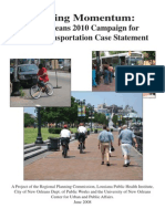 Gaining Momentum- New Orleans 2010 Campaign for Active Transportation Case Statement