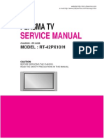 Lg Plasma Tv Rt42px10service Manual