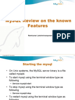 MySQL Review on the known Features