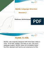 Learning MySQL Language Structure