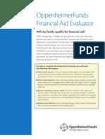Opp Finacial Aid Sheet