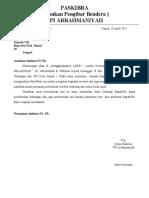 undangan surat izin Paskibra arrahman
