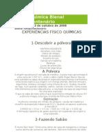 Físico Quimica Bienal Sesquicentenário