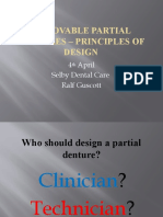 Removable Partial Dentures – Principles of design