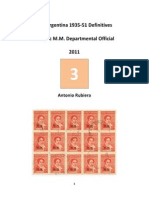 2011 Notes No.3 10c M.M. Departmental of the Argentina 1935-51 Definitives