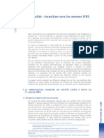 Transition Vers Les Normes IFRS