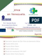 3. Ponencia La energìa eolica en Venezuela. Miguel Sepulveda
