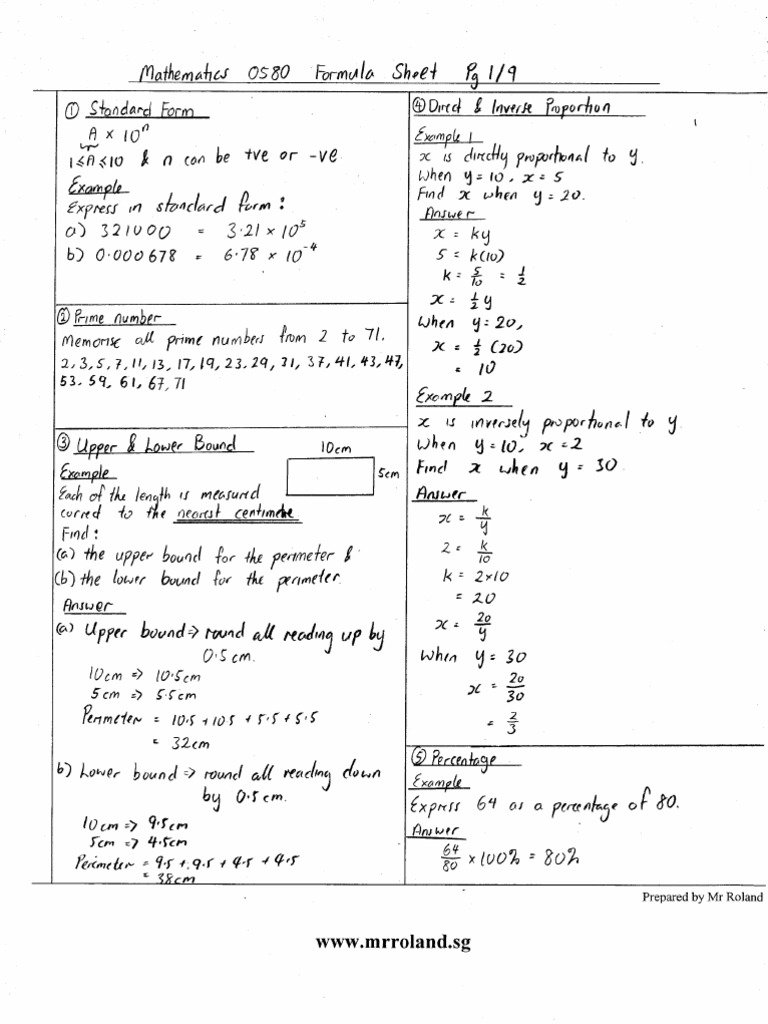 Worksheets Pdf - gcse algebra revision pdf ks4 maths worksheets ...