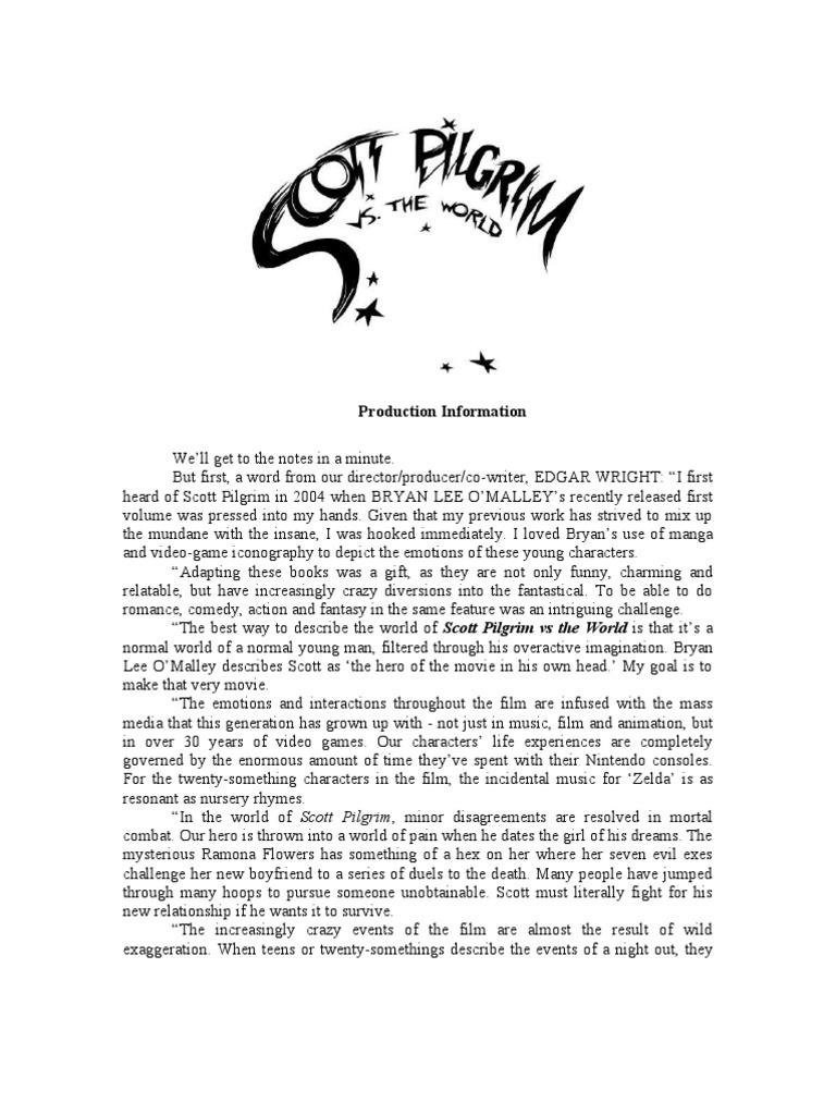 scott pilgrim vs the world production notes leisure