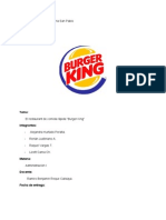 Burguer King Admin is Trac Ion I