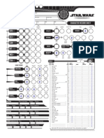 Star Wars RPG Character Sheet Fillable - Blank