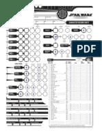 Star Wars RPG Character Sheet Fillable - Blank