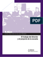 El Trabajo Del Director y El Proyecto de La Escuela
