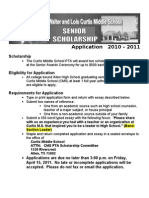 Curtis Scholarship Senior Application 10-11