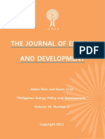 """Philippines Energy Policy and Development,"" by Adam Rein and Karen Cruz"