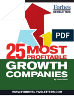 25 Most Profitable Growth Companies
