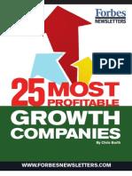 25 Most Profitable Growth Companies