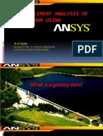 Gravity Dam Analysis Using Ansys