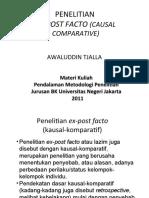 Penelitian Ex Post Facto
