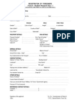Student Research Visa Regi