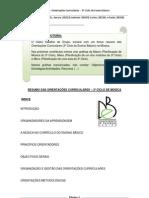 TDC_Trabalho Grupo - Resumo Orientações Curriculares - 3º Ciclo do Ensino Básico