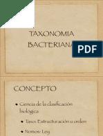 TAXONOMIA  Bacteriana